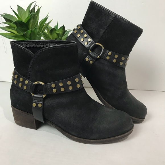 9b3c5846cfc UGG | Women's darling harness ankle boot black 9